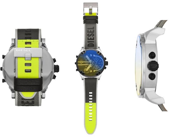 Крупным планом: часы Diesel с переливающимися стеклами (фото 1)