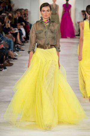Показ Ralph Lauren коллекции сезона Весна-лето 2015 года prêt-à-porter - www.elle.ru - Подиум - фото 587153
