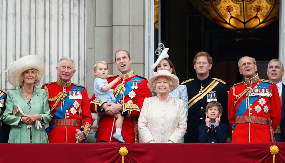 Королевская семья на параде Trooping the Colour