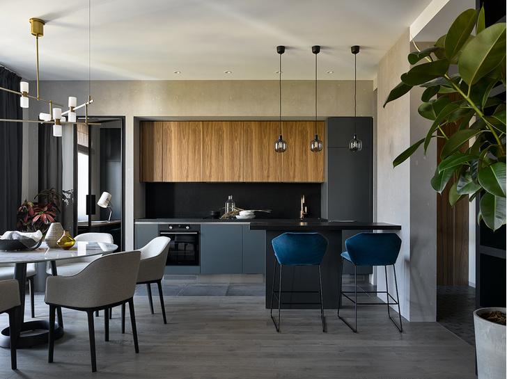 Брутальная квартира 78 м² с элементами минимализма (фото 0)