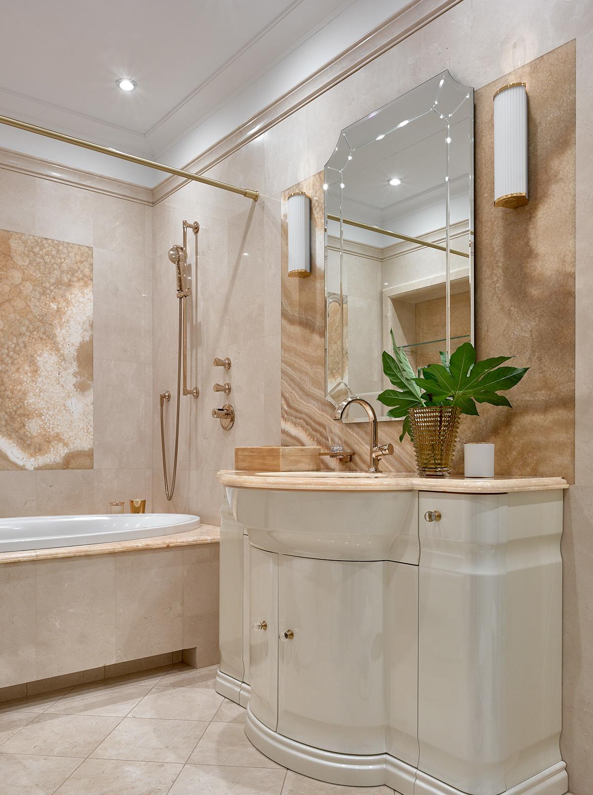 Розовая пудра: 15+ ванных комнат в нежной гамме (галерея 1, фото 3)
