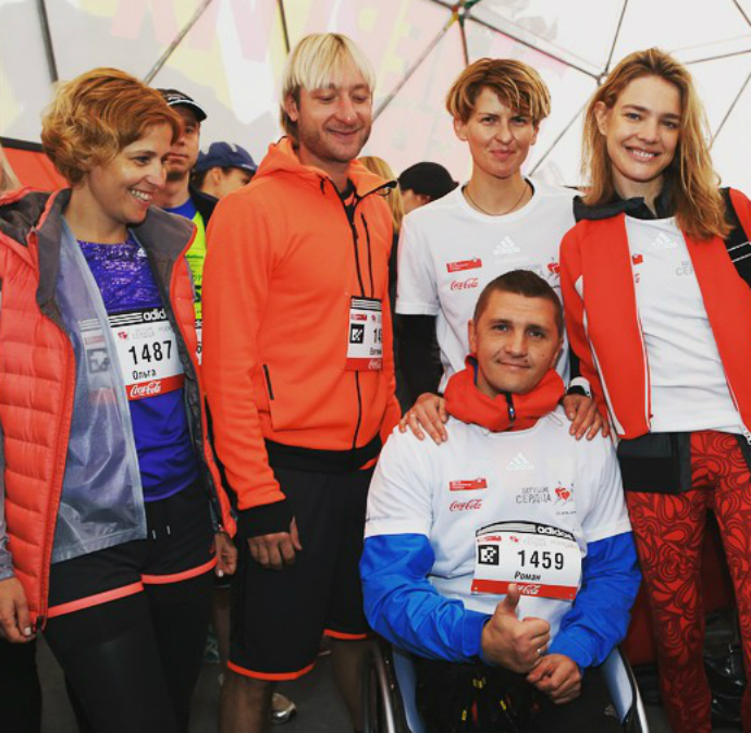 Ольга Захарова, евгений Плющенко, Полина Киценко, Наталья Водянова и Роман Петушков