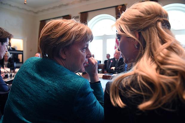 Ангела Меркель и Иванка Трамп