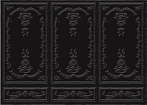 Настенное покрытие Chance, нейлон, имитация рельефных деревянных панелей, Elitis.