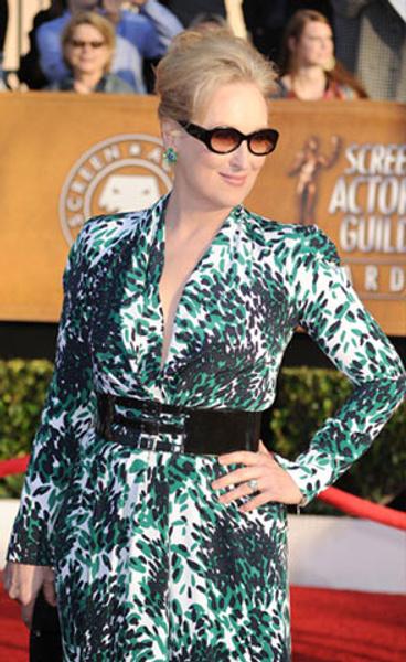 Мэрил Стрип в платье Balenciaga