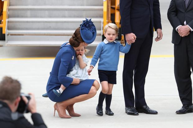 Кейт Миддлтон с Георгом и Шарлоттой