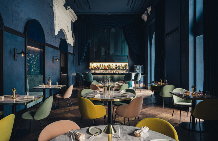 Ресторан Epoka в оттенках синего (фото 0)