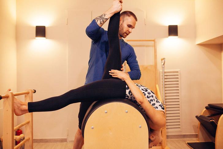 Занятия в студии Pilates PMP