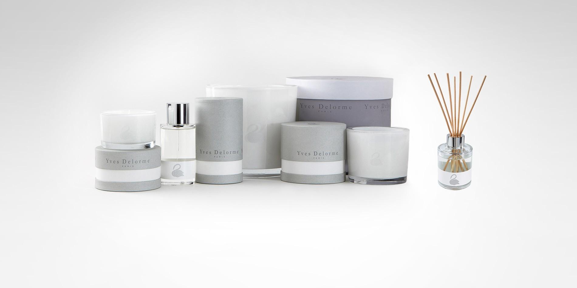 Свечи, спрей и диффузер Santal, Yves Delorme, салоны Yves Delorme