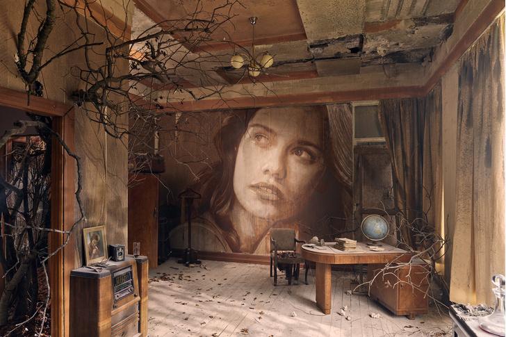 Блеск и нищета: картины на стенах заброшенного особняка (фото 1)