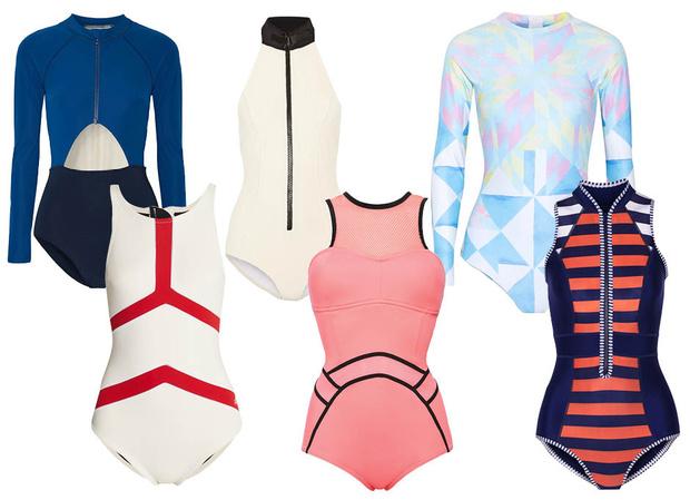 Модные слитные купальники 2016