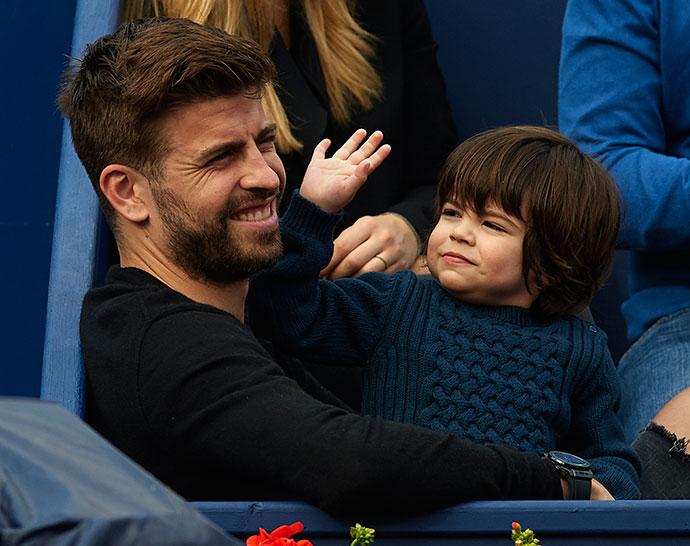 Жерар Пике с сыном