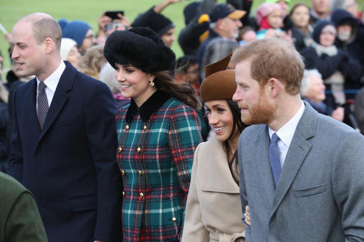 Меган Маркл и принц Гарри на рождественской службе (фото 4)