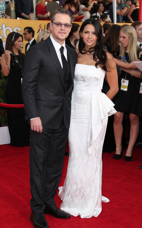 Мэтт Деймон с супругой