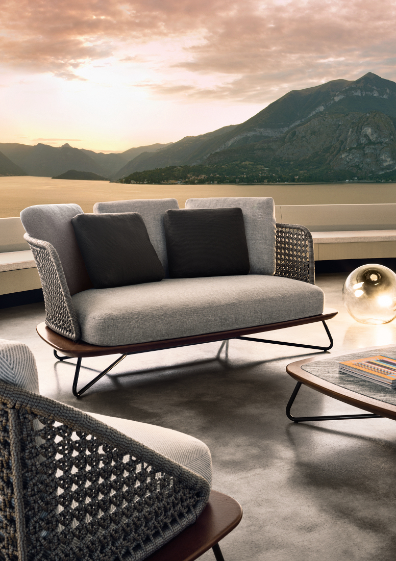 Outdoor коллекция мебели Rivera от фабрики Minotti | галерея [1] фото [1]
