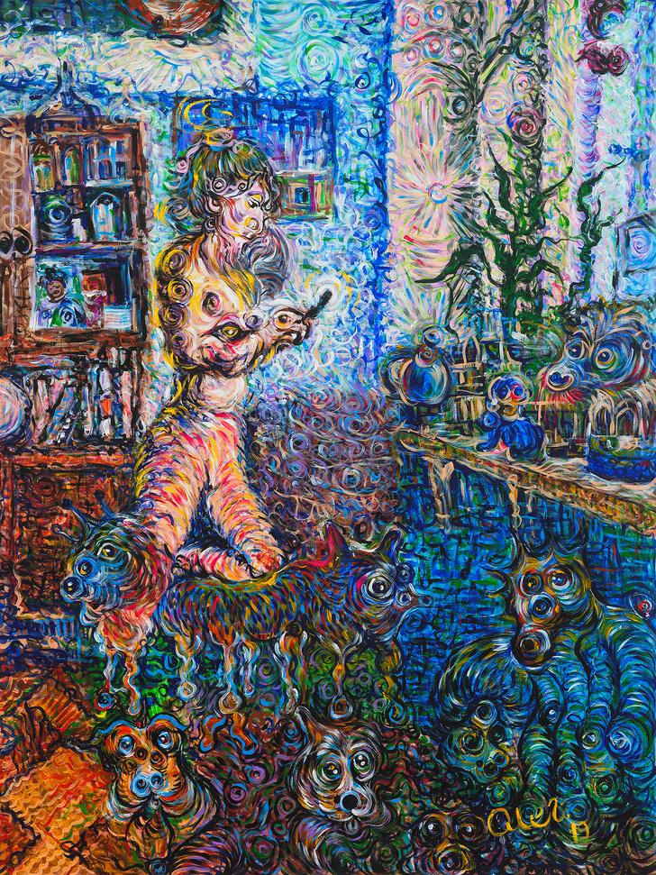 Олег Кулик в галерее ГУМ-Red-line (фото 5)