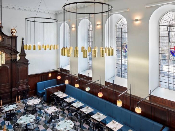 Лондонский ресторан в церкви по проекту Michaelis Boyd (фото 4)
