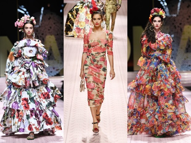 В духе Met Gala: звездопад на показе Dolce&Gabbana (фото 7)