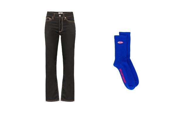 Джинсы + высокие носки: тренд для непогоды (фото 1)