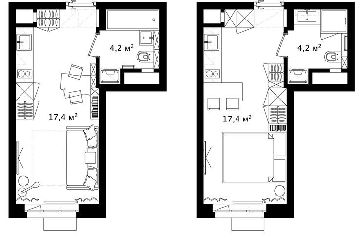 Первый план: все, что нужно знать о планировке маленьких квартир (фото 9)