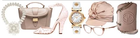 Колье, Bottega Veneta, цена по запросу; сумка, Lancel, 45 000 руб.; босоножки, Dolce & Gabbana, 21 500 руб.; часы, Versace, 39 900 руб.; очки, Dolce & Gabbana, 9 798 руб.; головной убор, Dsquared², 8 500 руб.; сумка, Gucci, 54 400 руб.