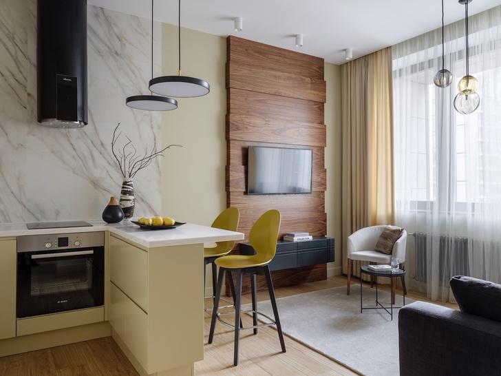 Современный минимализм: квартира 48 м² в Москве (фото 3)