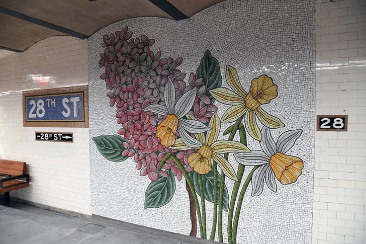 Нэнси Блум украсила мозаикой нью-йоркскую подземку (фото 8)