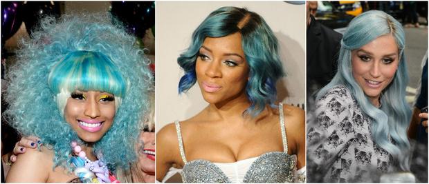 Знаменитости с голубыми волосами