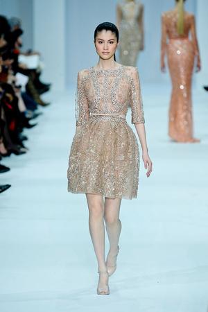 Показ Elie Saab коллекции сезона Весна-лето 2012 года haute couture - www.elle.ru - Подиум - фото 332669