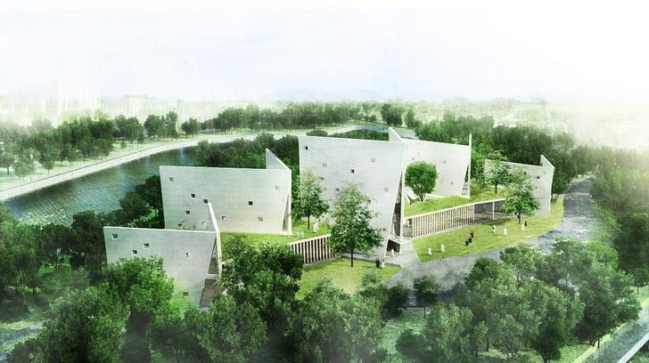 Открытая книга: здания в виде фолиантов фото [3]