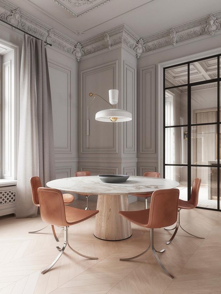 Современная классика: квартира 182 м² в Милане (фото 5)