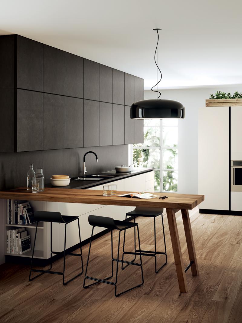 Кухни с фасадами из керамогранита от Scavolini | галерея [1] фото [3]