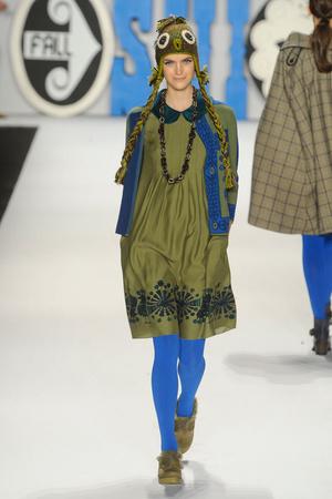 Показы мод Anna Sui Осень-зима 2012-2013 | Подиум на ELLE - Подиум - фото 1624