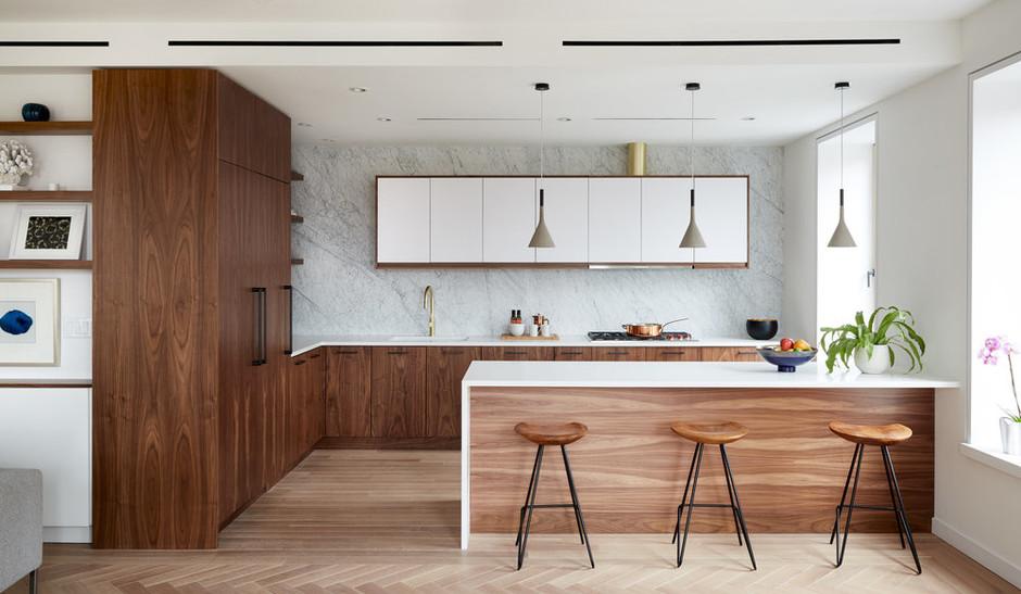 Кухня с деревянными фасадами: 25+ проектов (галерея 0, фото 4)