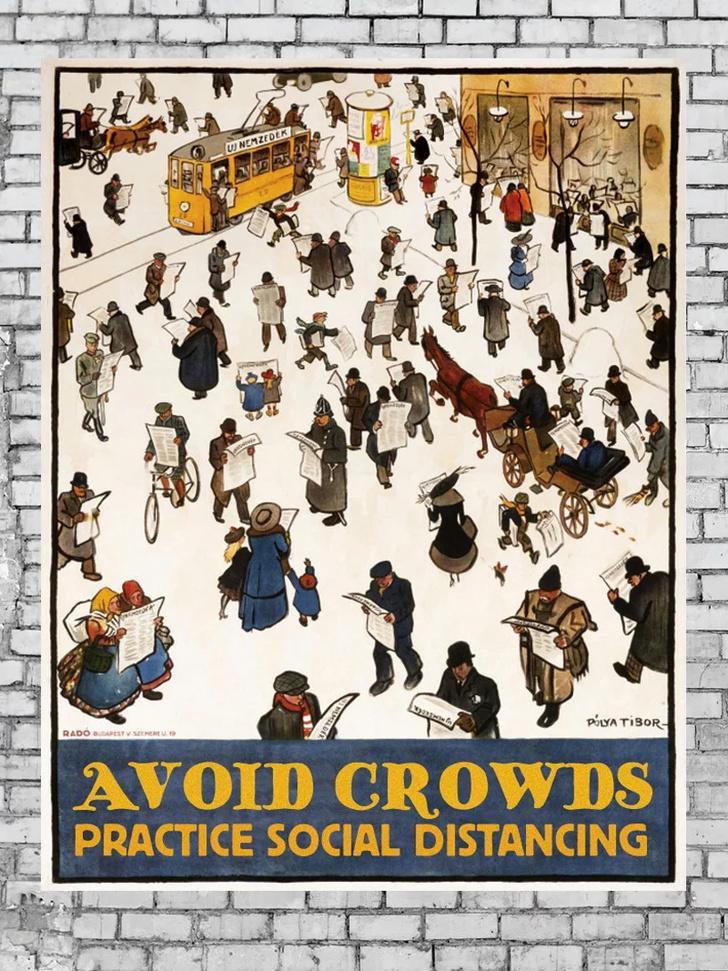 Дизайнеры против коронавируса: серия винтажных плакатов (фото 10)