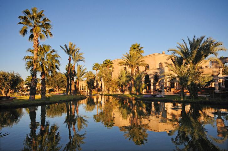 Сады отеля занимают пять гектаров. Посреди пустыни создан настоящий оазис с бесчисленными бассейнами и водопадами.