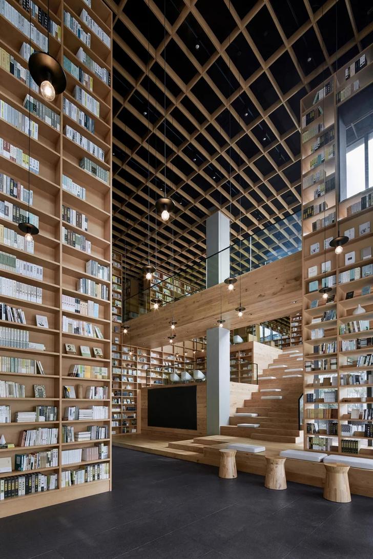 Деревянная библиотека в Ханчжоу (фото 16)