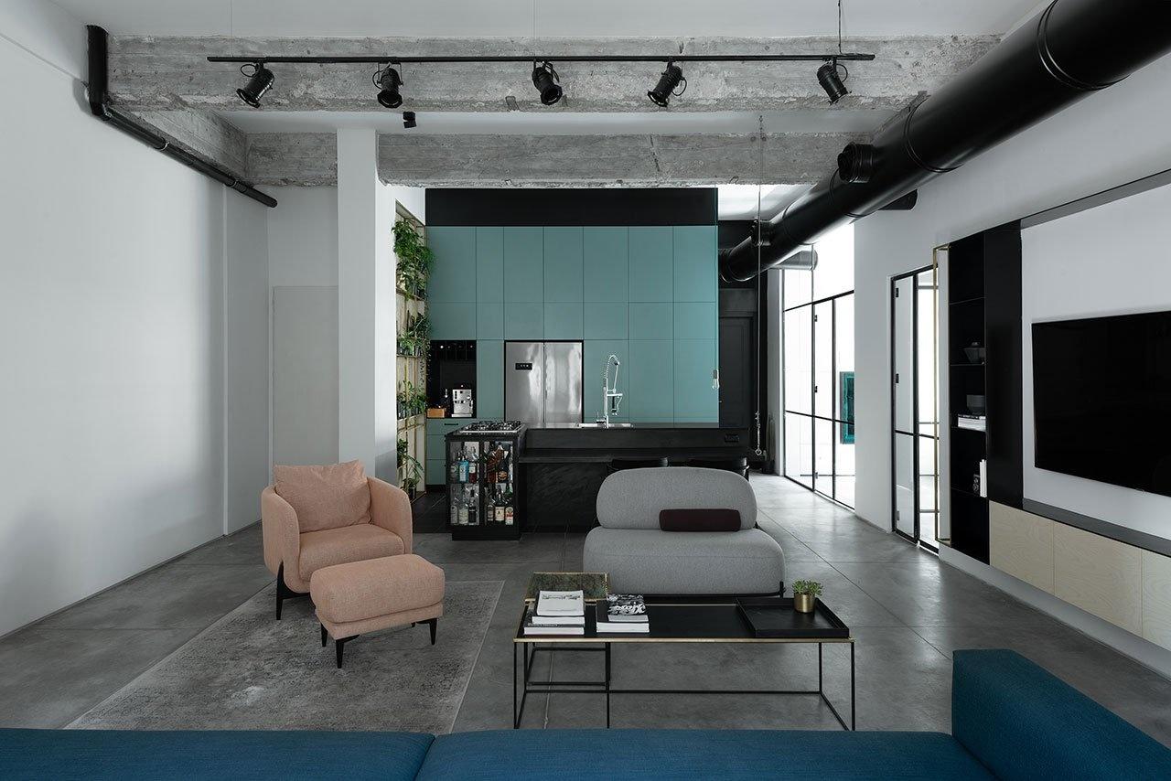10 интерьеров в индустриальном стиле (галерея 0, фото 2)