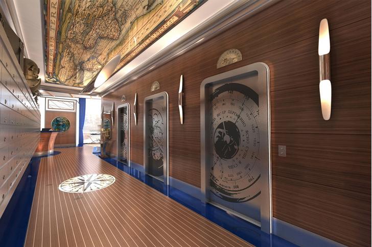 Дизайн-проект лифтового холла жилого комплекса «Невский»