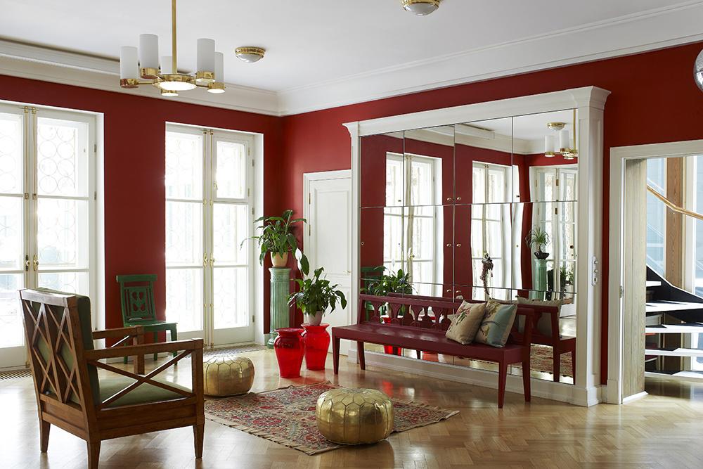 Красный цвет в интерьере: (галерея 0, фото 6)