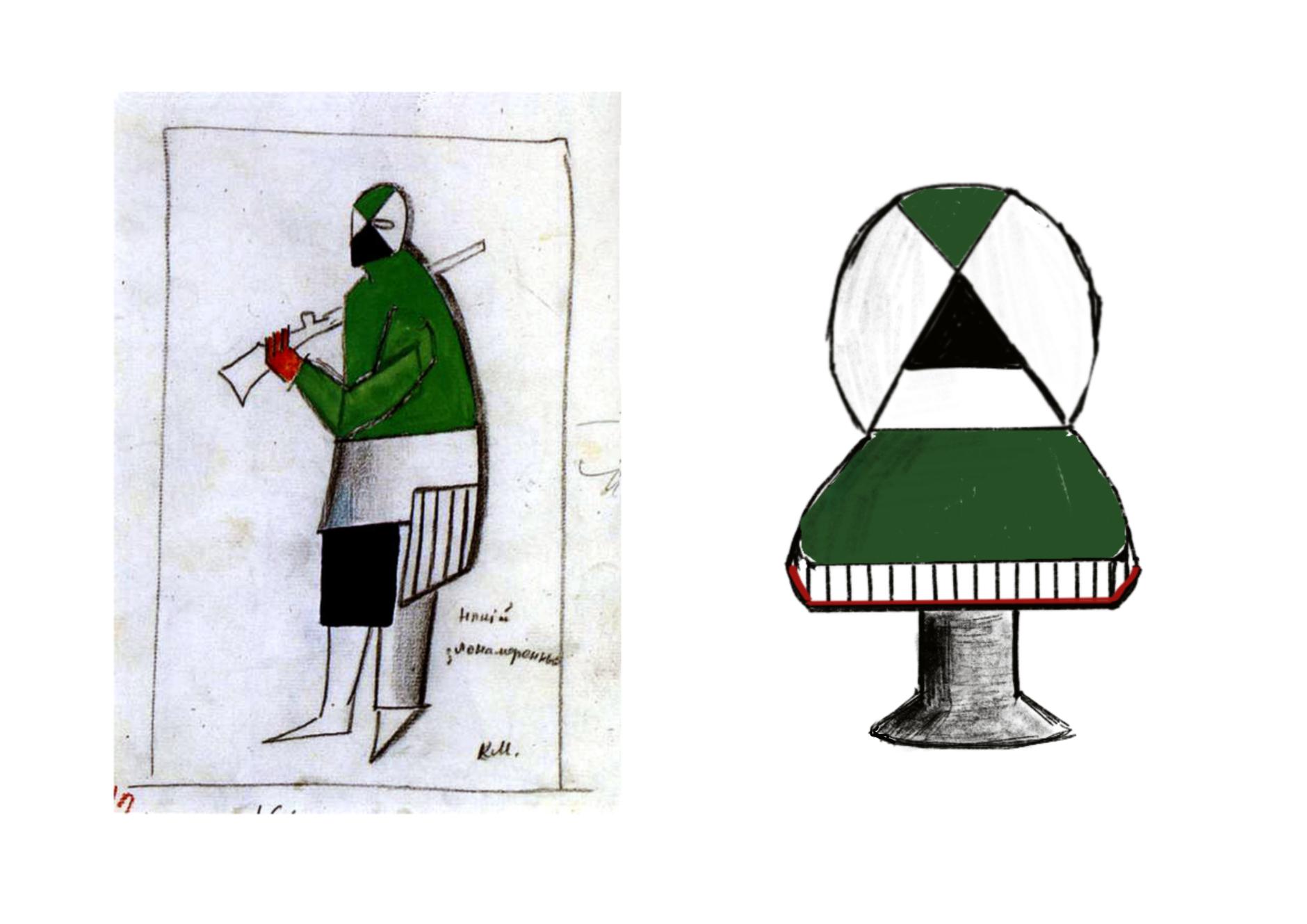 Стулья Анны Титовой по эскизам Казимира Малевича (галерея 6, фото 1)