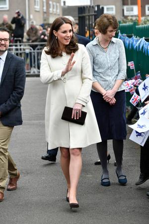 Беременная Кейт Миддлтон в Оксфорде (фото 1)