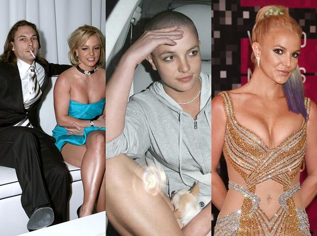 Бритни Спирс с Кевином Федерлайном / Певица в 2007 году / Бритни Спирс в 2015 году