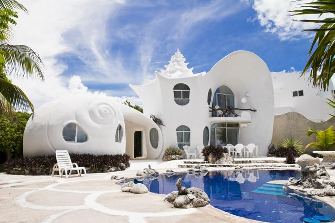Дом-ракушка на Исла Мухерес, Мексика