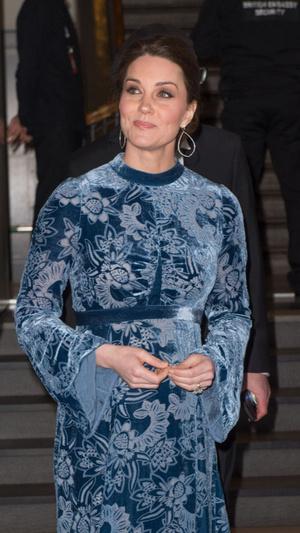 Синий бархат: Кейт Миддлтон в платье Erdem (фото 2)