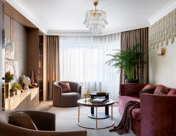 Квартира 80 м² в Москве в стиле современная классика (фото 3)