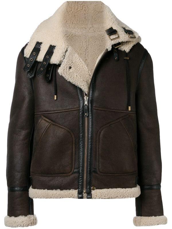 Кожаная куртка с мехом — лучшая покупка ноября (фото 14)