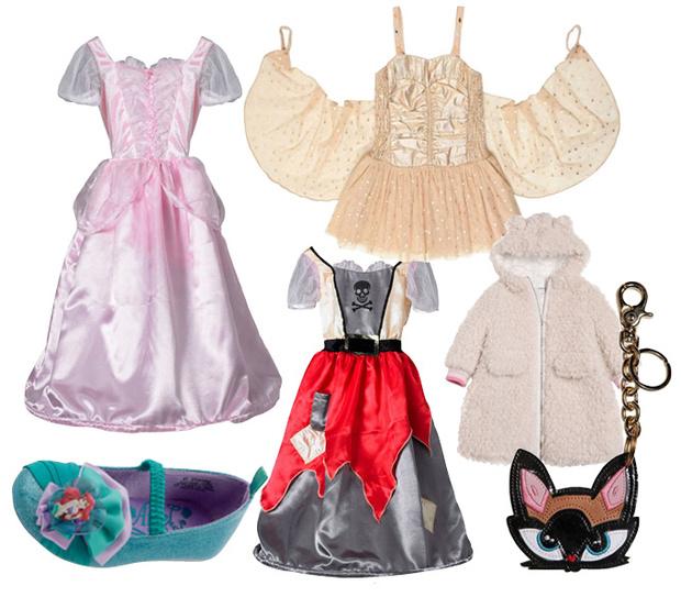 Двустороннее платье, Hamley's; балетки, Disney; платье, Stella McCartney Kids; пальто, Simonetta; брелок, Dsquared2