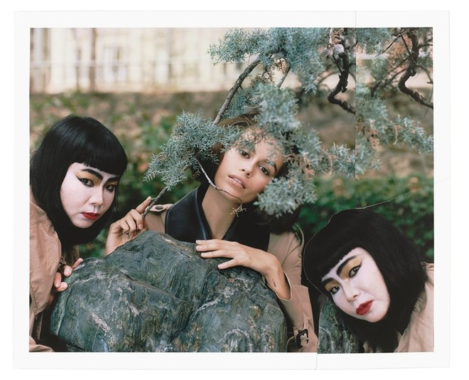 Я и моя тень: Кайя Гербер и художница Фумико Имано в мистическом лукбуке Loewe (фото 15)