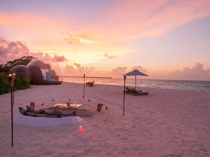 Дом под звездным небом: стеклянная палатка в отеле на Мальдивах (фото 4)